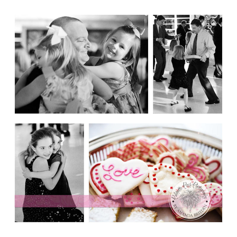father daughter dance, sweetheart dance, valentines cookies, valentines dance