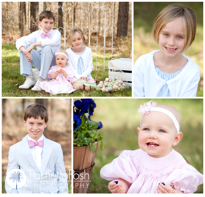 sibling outdoor easter photo
